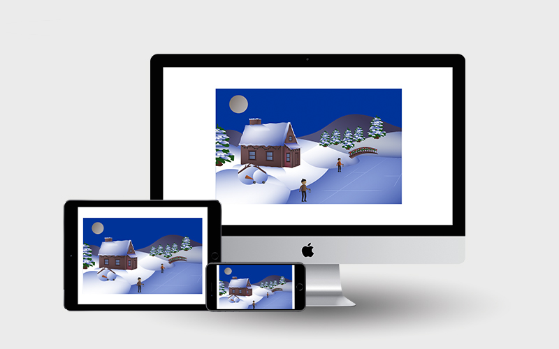 Christmas ECard created using HTML, CSS, and JavaScript | Monika Szucs