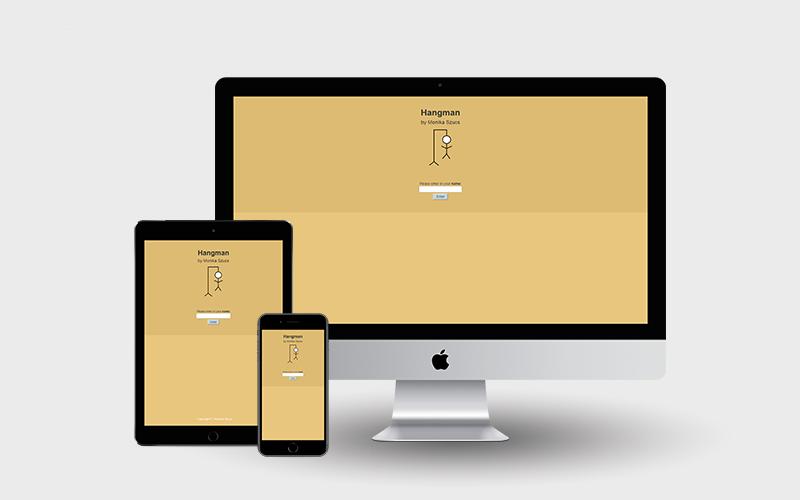 Hangman created in BCIT Web Development 4 | Monika Szucs