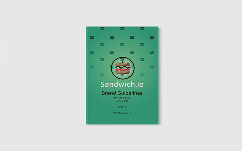 Sandwich.io Brand Guidelines | Monika Szucs | Digital Design and Development Diploma