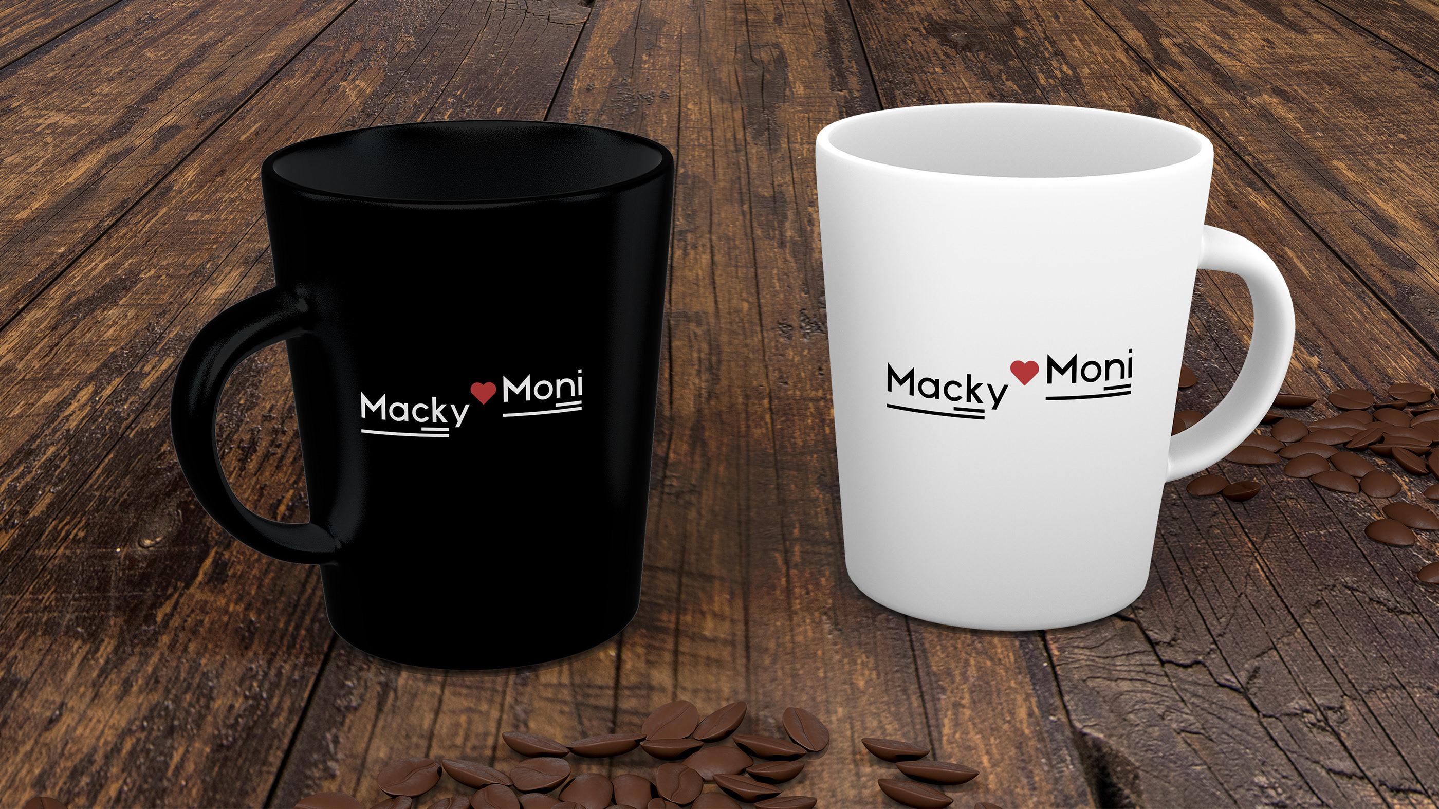 Macky❤️Moni Cup Logo Graphic Design   Monika Szucs