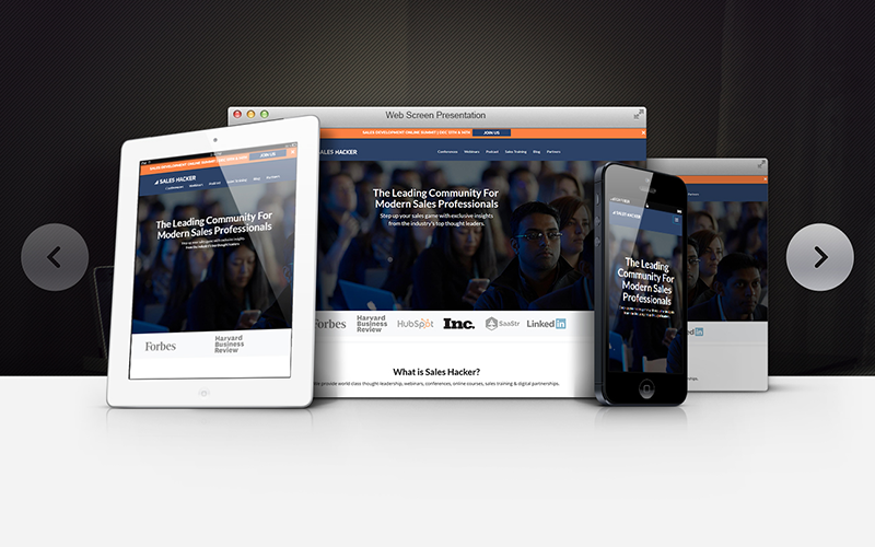 Sales Hacker website development Studio Media | Monika Szucs