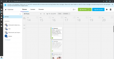 Biolase scheduling using Hootsuite for Facebook and Twitter under Legendary Social Media contracted by Feifei Digital Ltd | Monika Szucs