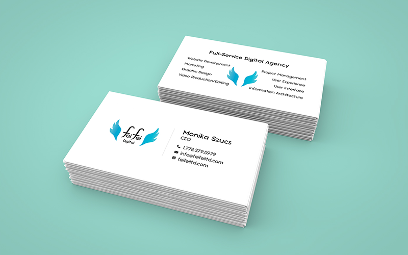 Monika Szucs Full-Service Digital Agency Business Cards
