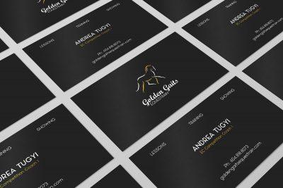 Golden Gaits Equestrain business card design | Monika Szucs