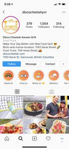 Discocheetah Instagram food posts Vancouver under Legendary Social Media Community management contracted by Feifei Digital Ltd | Monika Szucs