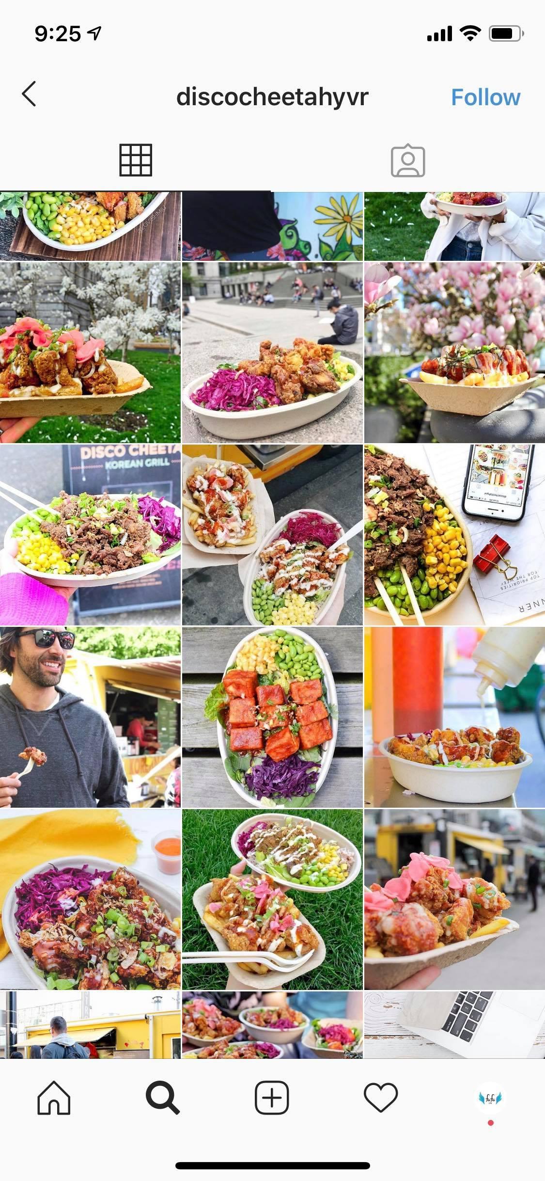 Discocheetah Instagram food posts Vancouver under Legendary Social Media Community management contracted by Feifei Digital Ltd | Monika Szucs