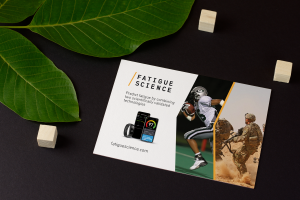Postcard Readiband for Sports and Military | Fatigue Science | Feifei Digital Ltd | Vancouver Digital Agency | Monika Szucs