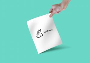 Bad bunny swimsuit logo graphic design Vancouver created by Feifei Digital Ltd Agency   Monika Szucs