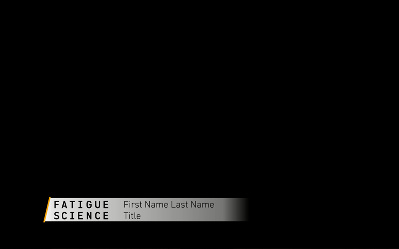 Title Card Animation | Fatigue Science