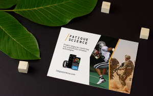 Postcard Readiband for Sports and Military | Fatigue Science | Feifei Digital Ltd | Vancouver Digital Agency | Monika Szucs