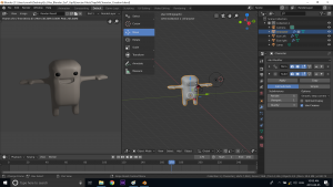 UV Mapping Blender 3D Character creation under Feifei Digital Ltd | Monika Szucs