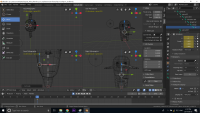 Wireframe Blender 3D Character creation under Feifei Digital Ltd | Monika Szucs