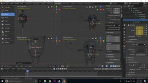 Wireframe Blender 3D Character creation under Feifei Digital Ltd | Monika Szucs