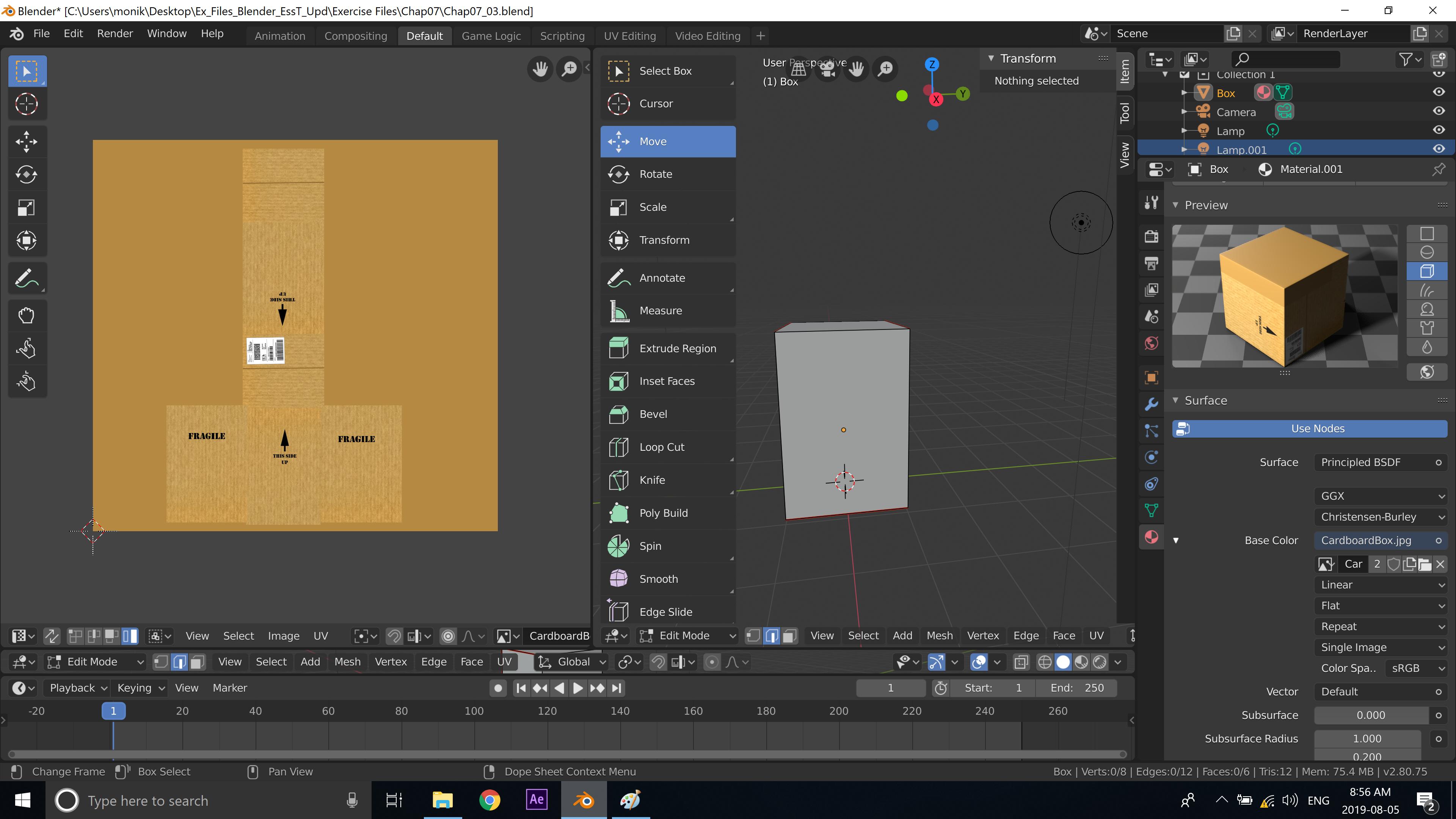 Box with UV Mapping Feifei Digital Ltd | Monika Szucs