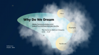 Why do We Dreams Psychology Prezi Presentation for BCIT Psyc 1101 | Monika Szucs