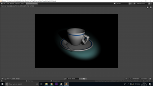 Blender spot lighting on cup under Feifei Digital Ltd | Monika Szucs