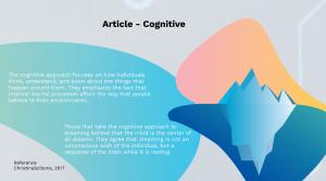 Cognitive Dreams Psychology Prezi Presentation for BCIT Psyc 1101 | Monika Szucs