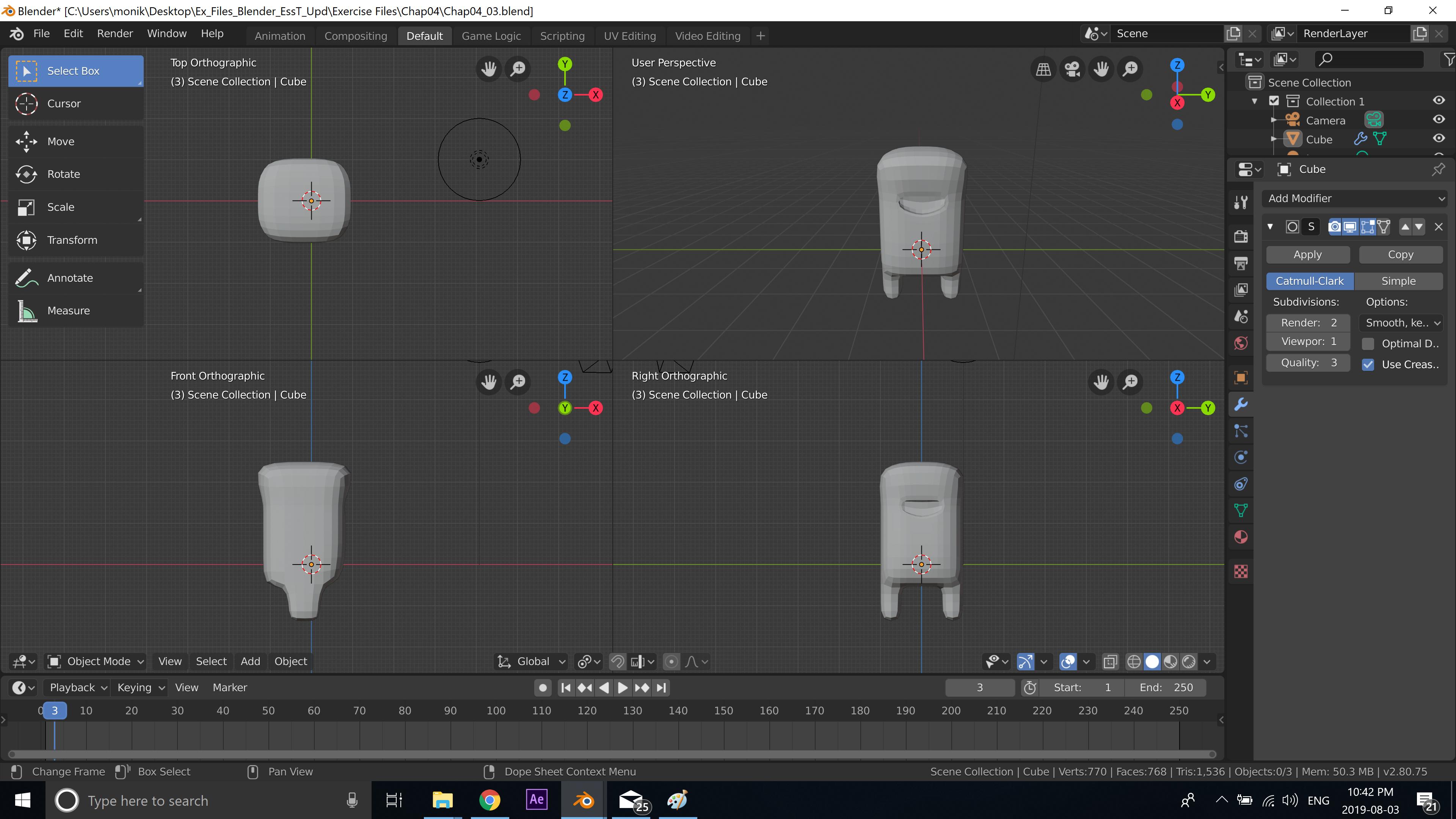 Blender 3D Character creation under Feifei Digital Ltd   Monika Szucs