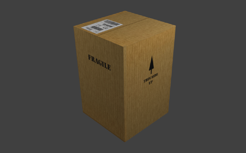 Box and Mapping Textures created in Blender | August 2019 | Feifei Digital Ltd