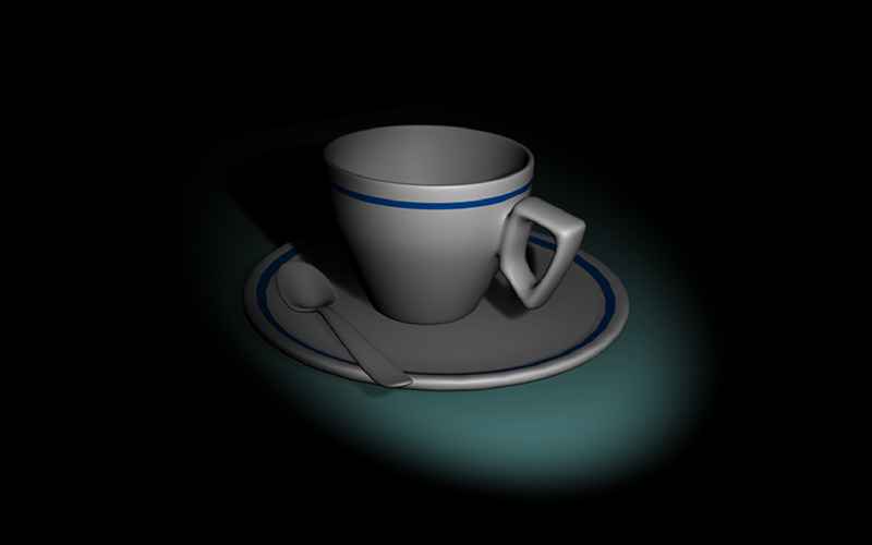 Cup with Spot Lamp using Blender | August 2019 | Feifei Digital Ltd