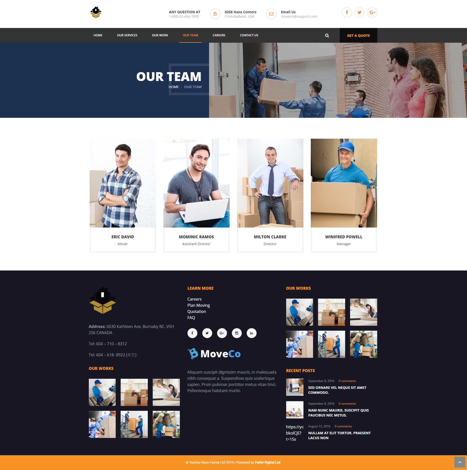 Techno Reno Home Inc | WordPress Developer | Feifei Digital Ltd