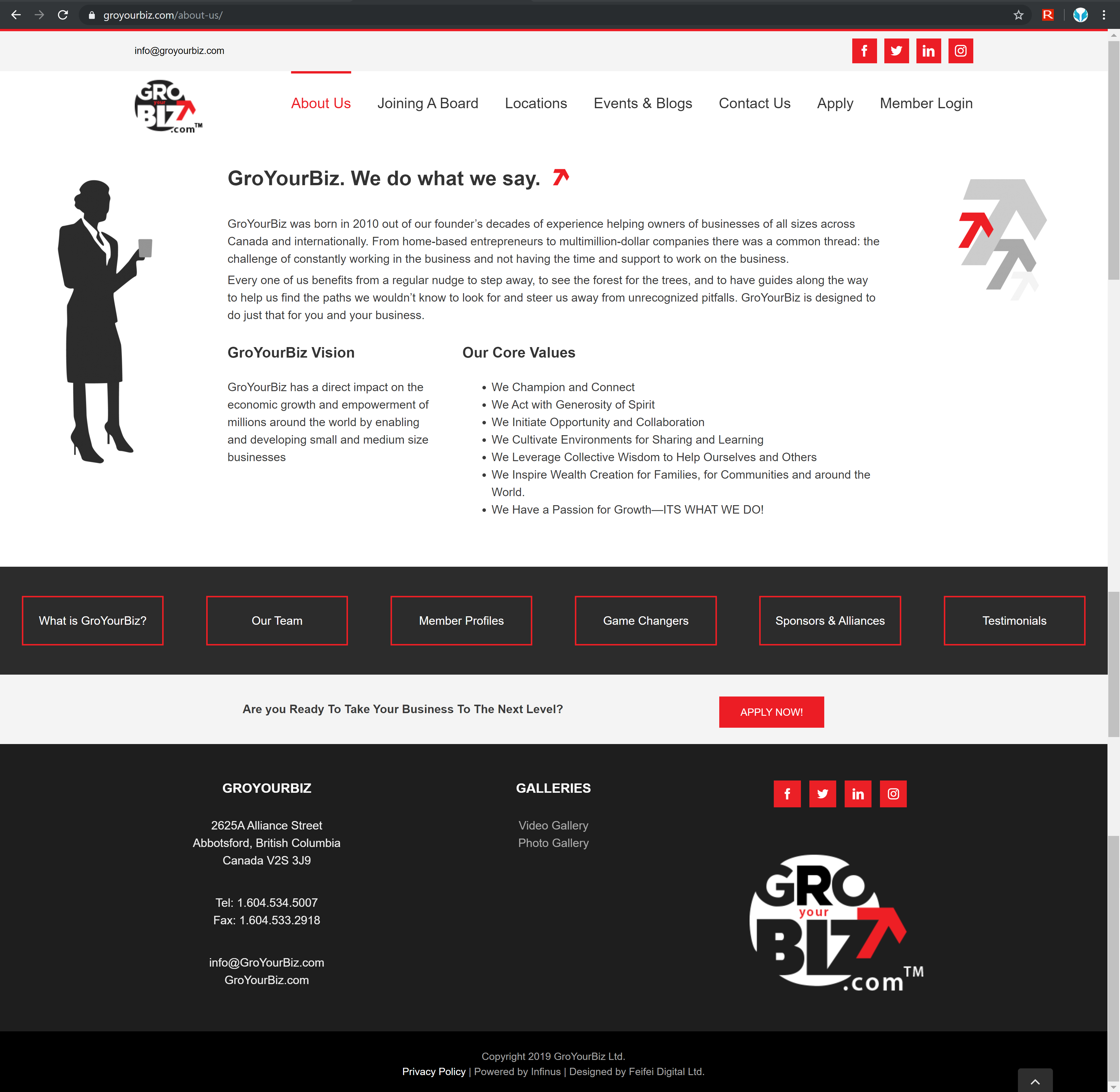GroYourBiz About Us Page | User Interface and Front End Development | Feifei Digital | Monika Szucs