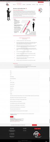 GroYourBiz Become A GYB Chair Page   User Interface and Front End Development   Feifei Digital   Monika Szucs