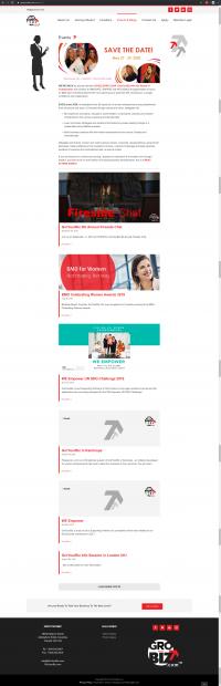 GroYourBiz Events Page   User Interface and Front End Development   Feifei Digital   Monika Szucs