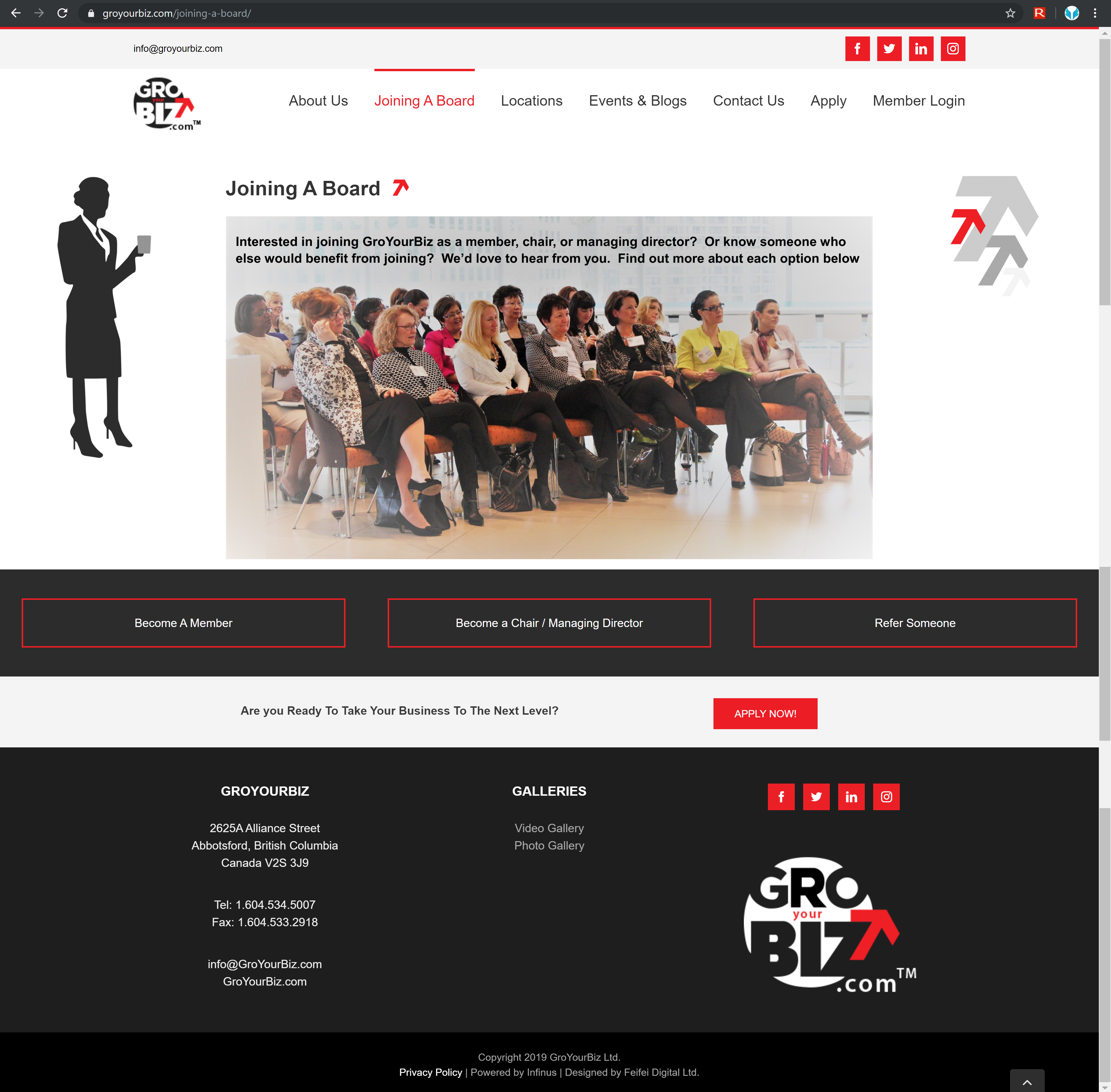 GroYourBiz Joining A Board Page | User Interface and Front End Development | Feifei Digital | Monika Szucs