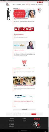 GroYourBiz News Articles Page   User Interface and Front End Development   Feifei Digital   Monika Szucs