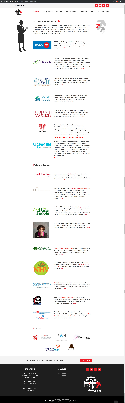 GroYourBiz Sponsors & Alliances Page | User Interface and Front End Development | Feifei Digital | Monika Szucs