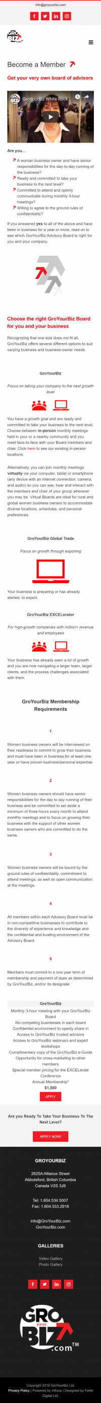 GroYourBiz Become A Member Page | User Interface and Front End Development | Feifei Digital | Monika Szucs