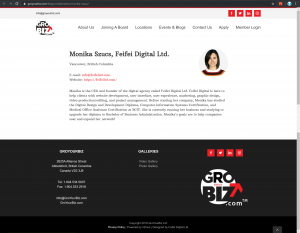 GroYourBiz Home Page | User Interface and Front End Development