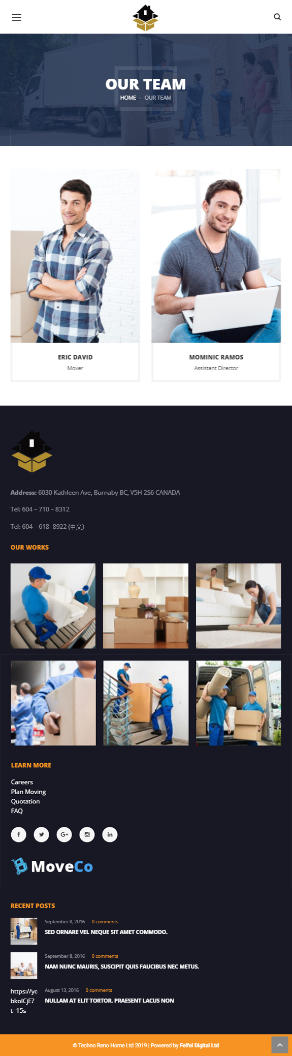 Techno Reno Home Inc   WordPress Developer   Feifei Digital Ltd